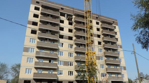 На фото: ход строительства новостройки ЖК «Октябьский» в Архангельске