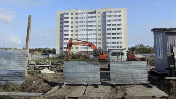 На фото: процесс строительства ЖК «Новый Квартал» в Архангельске