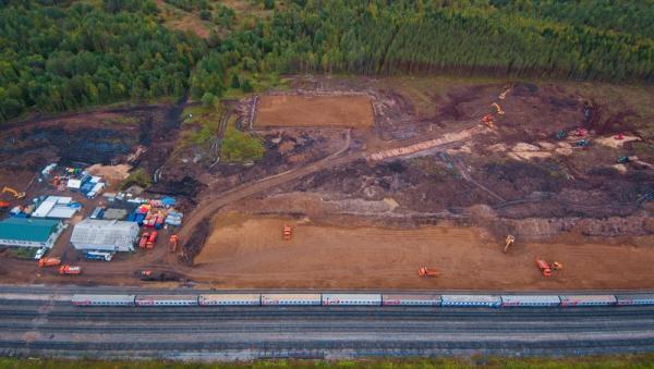 На фото: скандальные строительные работы на станции Шиес Ленского района