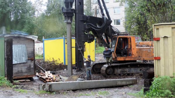 На фото: процесс строительства ЖК «Река» в Архангельске