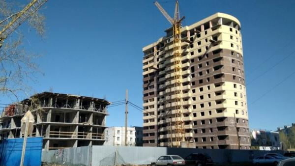 На фото: ход строительства ЖК «Гармония» в Архангельске