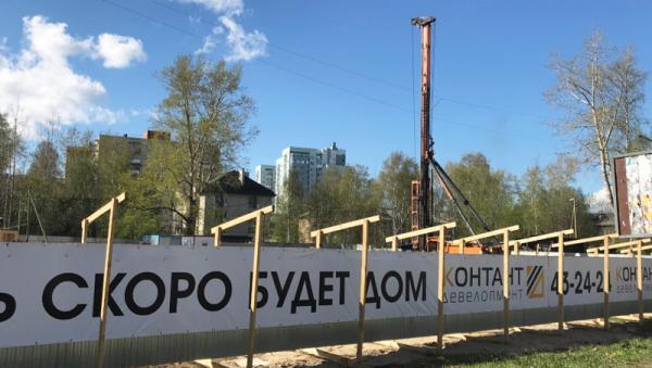 На фото: ход строительства ЖК «Семейный» в Архангельске