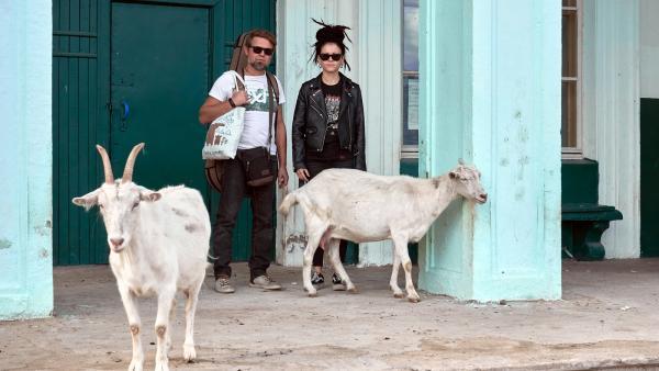 Саша Растич и Дария Ставрович в Мадмасе, на пути на Шиес.