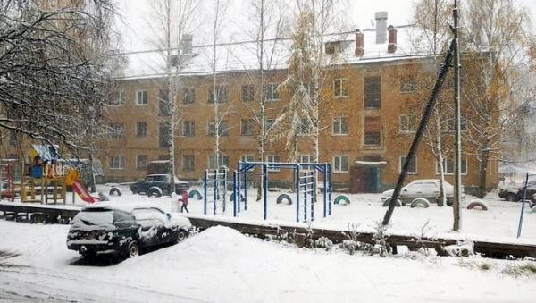 Снегопады прошли в большинстве районов Архангельской области