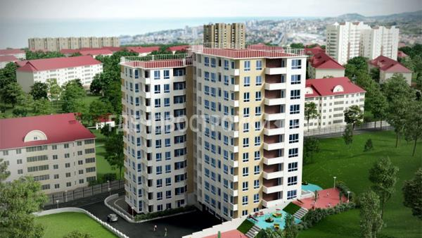 Вид новостройки ЖК «Каскад» в Сочи