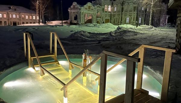 Иордань для крещенских купаний в Сольвычегодске. Фотография
