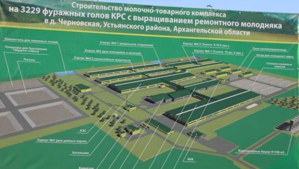 В Устьянском районе строится животноводческий комплекс с вложениями 4,5 млрд рублей