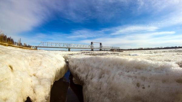 Архангелогородцы в течение дня могут наблюдать ледоход на Северной Двине