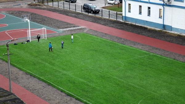 У Архангельского педагогического колледжа появился собственный мини-стадион
